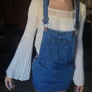 jean skirt overalls hardly worn